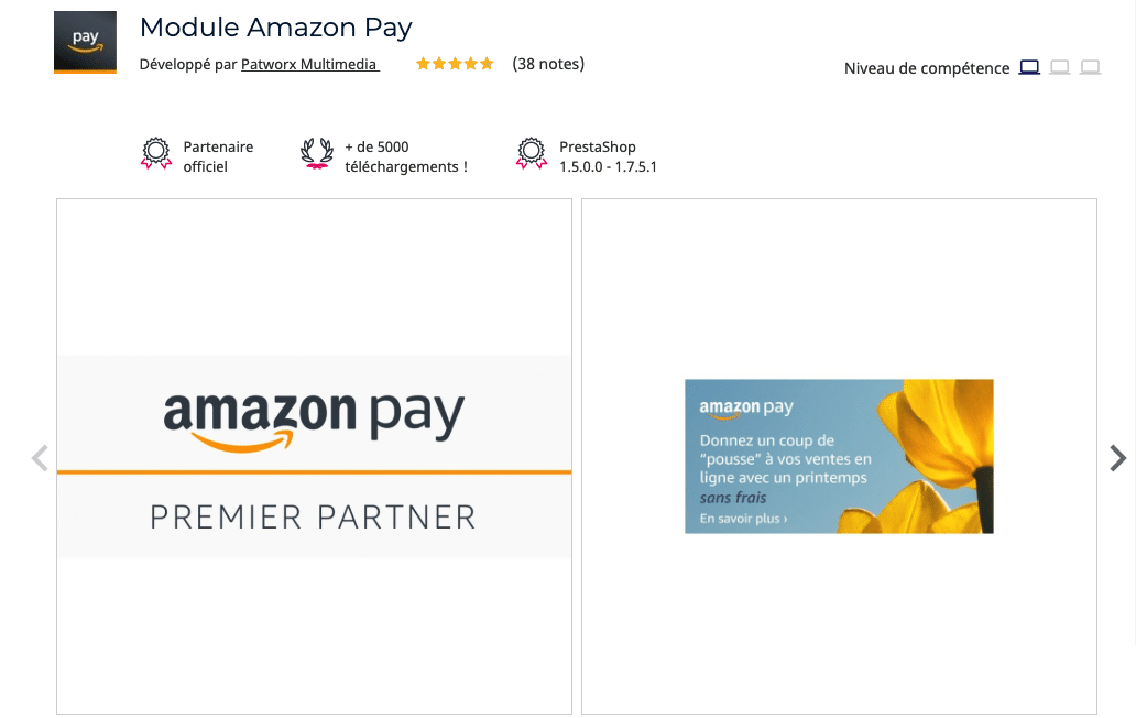 module amazon pay prestashop