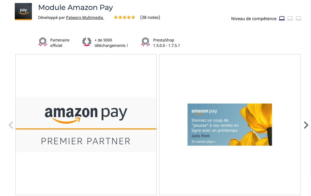 module amazon pay prestashop