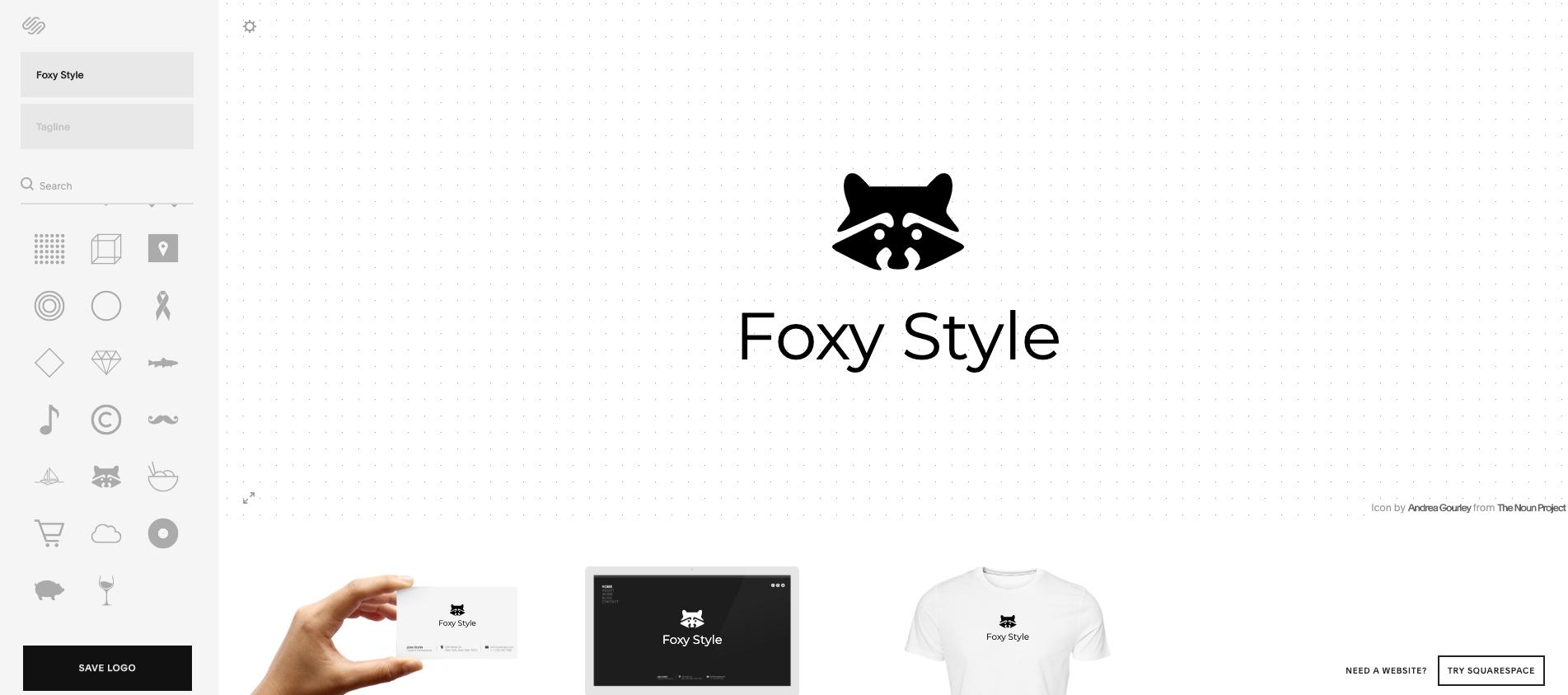 squarespace outil de création de logo en ligne