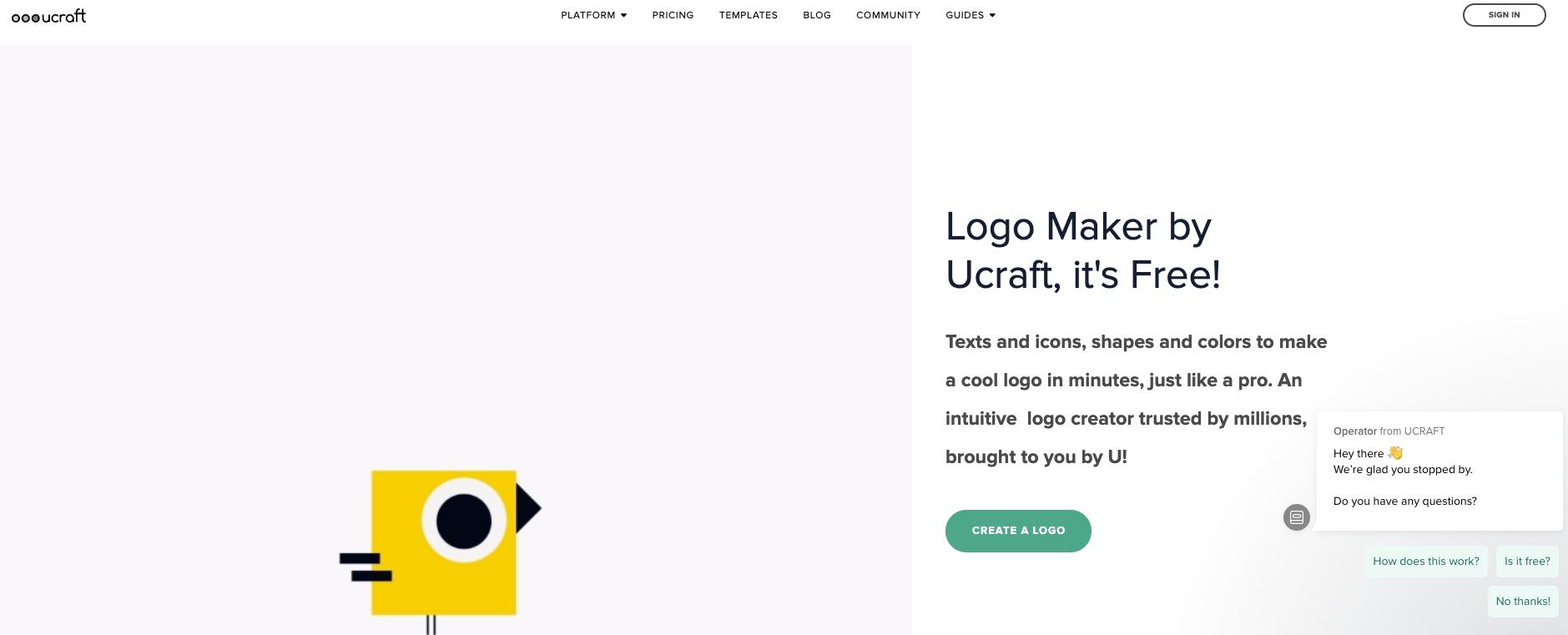 ucraft outil de création de logo