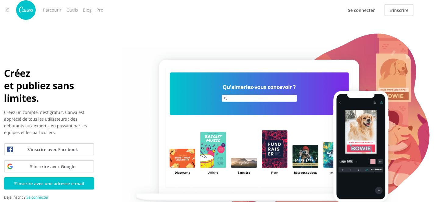 canva outil de création de logo en ligne