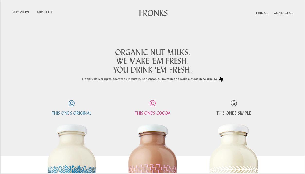 fronks webdesign ecommerce exemple