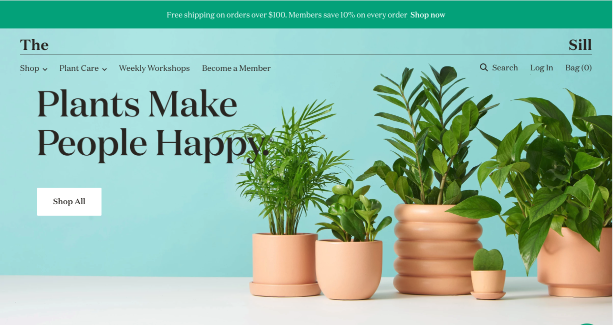 thesill exemple de webdesign ecommerce